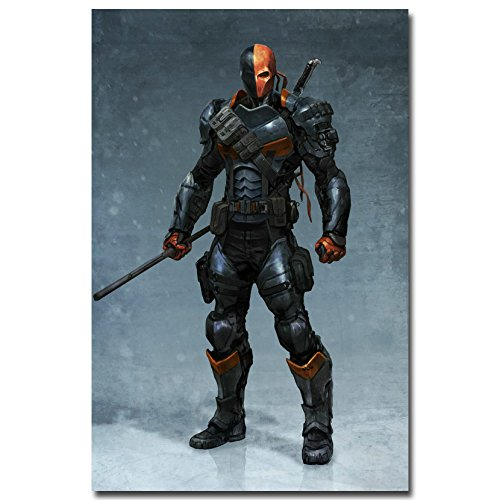 Lawrence Painting Batman Arkham Knight Origins Art Canvas Poster Huge Print Bedroom Decor Vedio Game Deathstroke Pictures (Art Gordmans Wall)