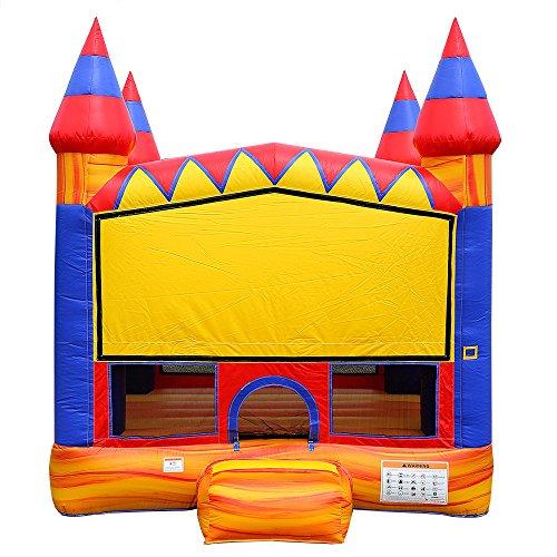 JumpOrange Commercial Grade Inflatable Turbo Blaze Bounce House Backyard Party Moonwalk Size 13'x13'