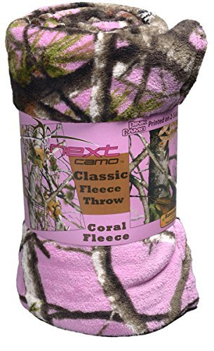 - Military Hunting Pink Coral Camo Classic Soft Fleece Throw Blanket (48