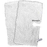 Woreach Shark Steam Pocket Mop Microfiber Cleaning Pads For S3500, S3550, S3601 and S3901 - 2Pcs Pads For Shark Steam