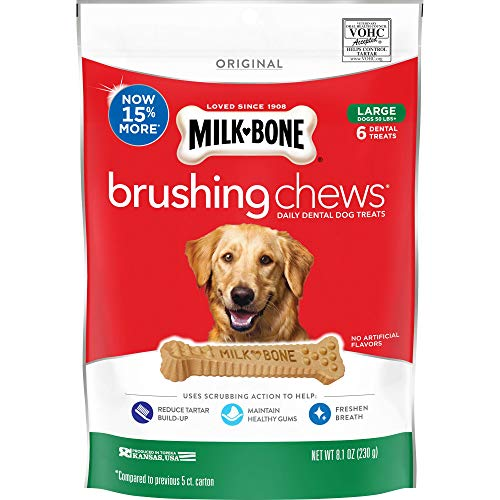 Milk-Bone Original Brushing Chews Daily Dental Dog Treats, Reduce Tartar Build-up, Maintain Healthy Gums