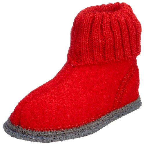 Kitz - Pichler Ötz - Zapatillas de casa Unisex Niños Rojo (rubin 2826)
