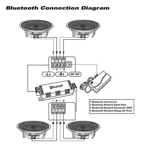 pyle 8 u201d 4 bluetooth flush mount in