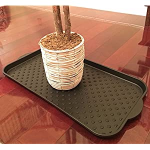 Multi-Purpose Boot Tray by Blink Designs for Large Shoes, Pets, Dog Feeding Mat, Plants, Gardening, Doormat - Waterproof Utility Tray with Easy Lift Handles & Raised Rim - Protect Your Floors Today!