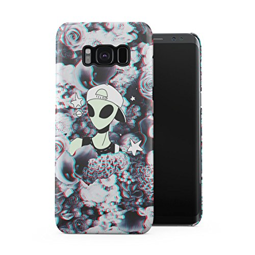 Swagy Alien Trippy Wildflowers Roses Pattern Tumblr Plastic Phone Snap On Back Case Cover Shell Compatible with Samsung Galaxy S8