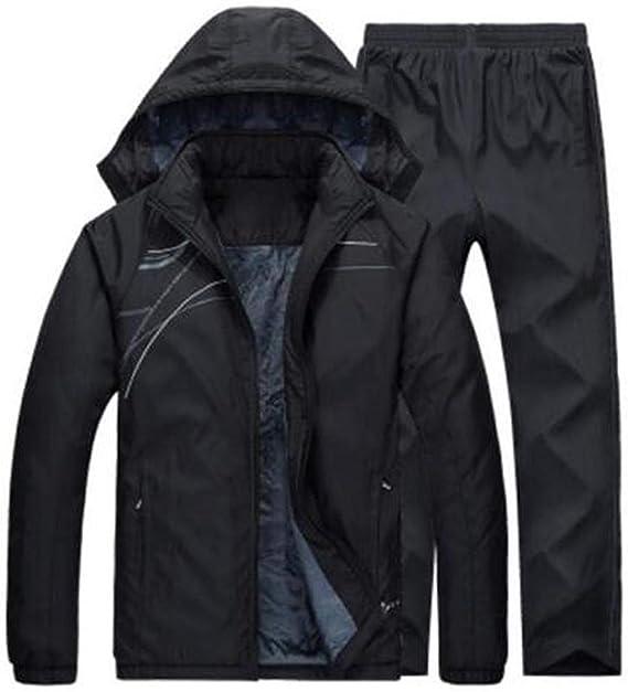 ALLAK Mens Athletic Fleece Tracksuit Jogging Sweatsuit Activewear