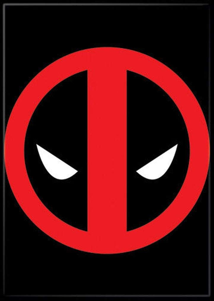 """Ata-Boy Marvel Comics Deadpool Logo 2.5"""" x 3.5"""" Magnet for Refrigerators and Lockers"""