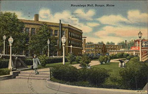 Norumbega Mall and Grounds Bangor, Maine Original Vintage - Mall The Maine
