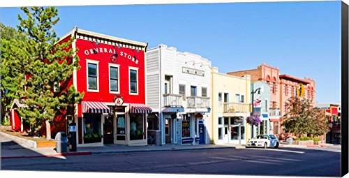 General Store, Main Street, Park City, Utah by Panoramic Images Canvas Art Wall Picture, Museum Wrapped with Black Sides, 54 x 28 - Park Main Street City Stores