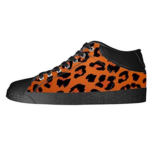 Vela Leopardo Panno Custom Tela High Sneakers Scarpe Men' D Up Print Di Canvas Shoes Top Lace A S AqOwpSq