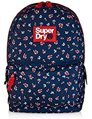 Superdry Womens Helena Floral Montana Backpack, Navy/Red Ditsy, One Size