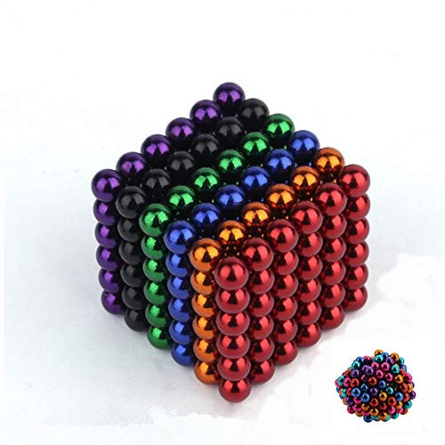 Colourful Magnetic Ball 5mm 216 Piece Puzzle Decompression Fun Toy Colored Magnetic Ball (6 Color)
