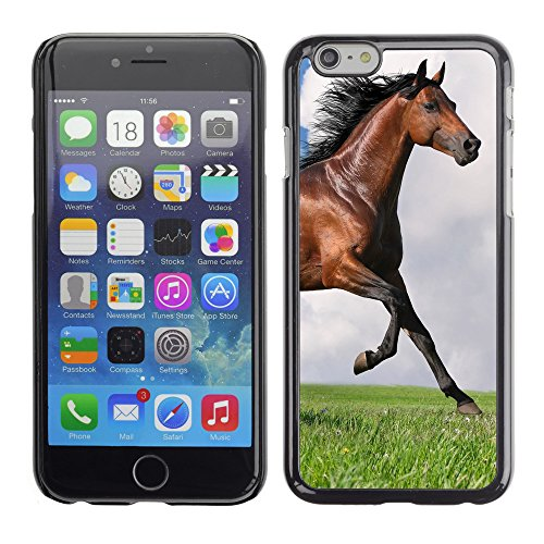 Premio Sottile Slim Cassa Custodia Case Cover Shell // V00003781 cheval au galop // Apple iPhone 6 6S 6G 4.7""