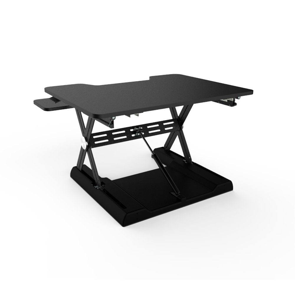 OLLO: Variable height, sit-stand workstation with gas spring power, 30'' wide, 4.4-17.5'' lift (OD-30 Black) by OLLO (Image #1)