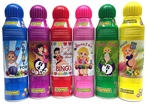 Lucky Lady Bingo Daubers 6-Pack Mixed Colors! -