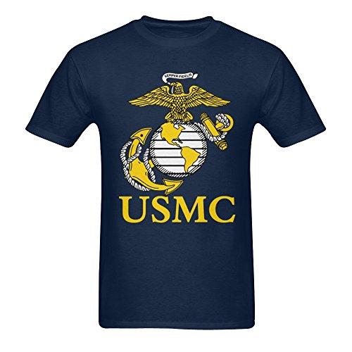 Men's US Marine Corps USMC Logo T-shirt Navy XXL ()