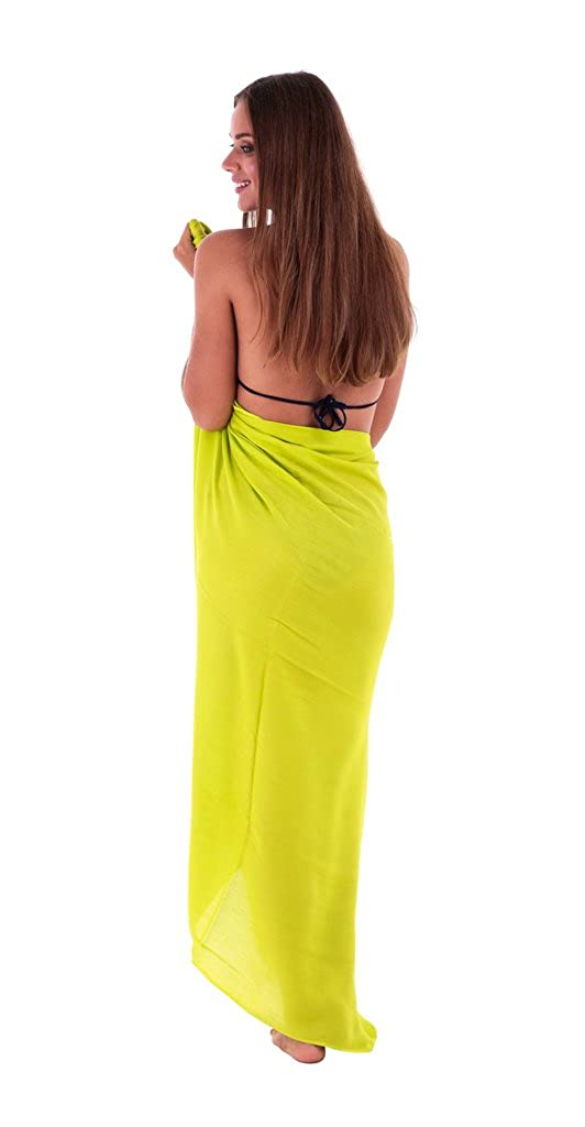 SHU-SHI Womens Beach Cover Up Sarong Swimsuit Cover-Up Many Solids Colors