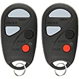 KeylessOption Keyless Entry Remote Control Car Key Clicker Fob Replacement for NHVBU43, Nissan Maxima I30 (Pack of 2)
