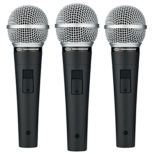 - Pure Resonance Audio UC1S | Ultra-Clear Dynamic Vocal Microphone (3 Pack)