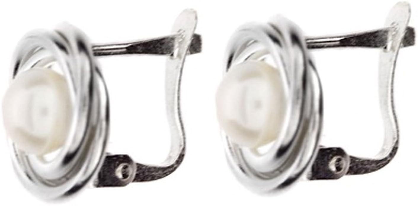 Córdoba Jewels |Pendientes en plata de ley 925 y perla. Diseño Nudo Perla Catalán: Amazon.es: Joyería
