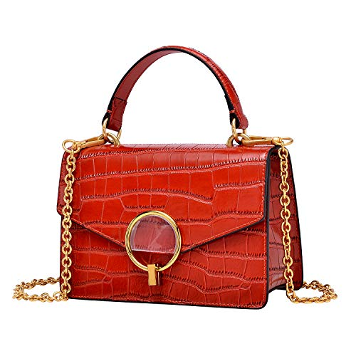 - PIJUSHI Crocodile Crossbody Shoulder Handbag For Women Fashion Small Top Handle Satchel Bags (J40 Dark red)