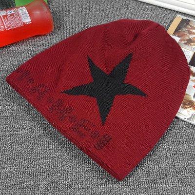 Holgados Hombre Gorro Maozi Wine Sombrero Moda STARREDWINE Maple para Slouch Knit Slouchy Caliente cráneo Red Cap rPPBw