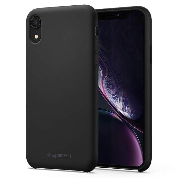 save off 27fc0 fe9e6 Spigen Silicone Fit Designed for Apple iPhone XR Case (2018) - Black