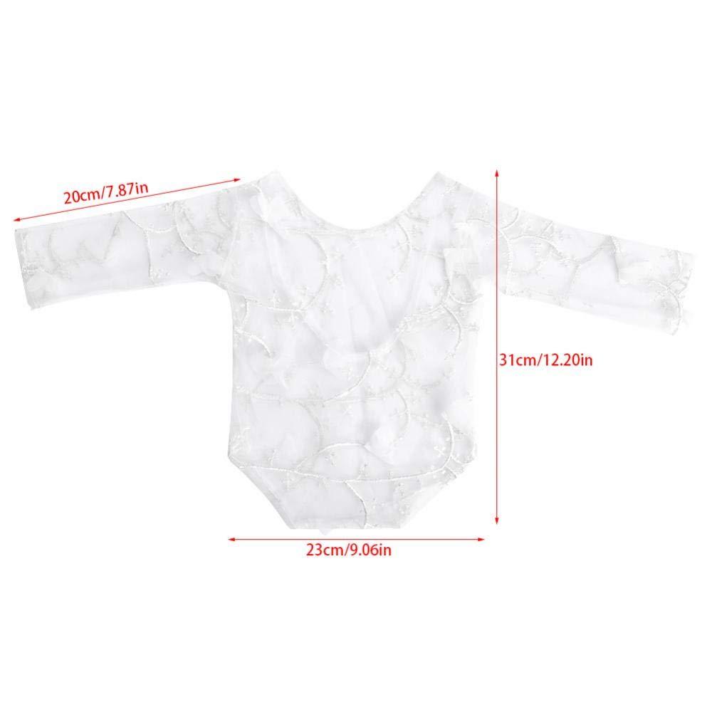 Baby Anzug Spitze Kleidung Bl/ütenblatt Fotografie Requisiten Props Fotoshooting Zubeh/ör f/ür Neugeboren Lila
