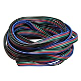 Connector Cable - SODIAL(R) 4 Pin Wire Extension Connector Cable Cord For LED RGB Strip 3528 5050 Connector Colourful 5M