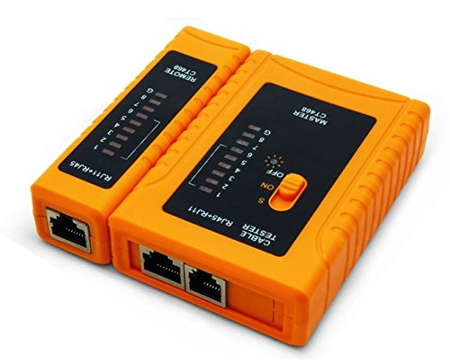 iMBAPrice - RJ45 Network Cable Tester for Lan Phone RJ45/RJ11/RJ12/CAT5/CAT6/CAT7 UTP Wire Test (Phone Cable Tester)