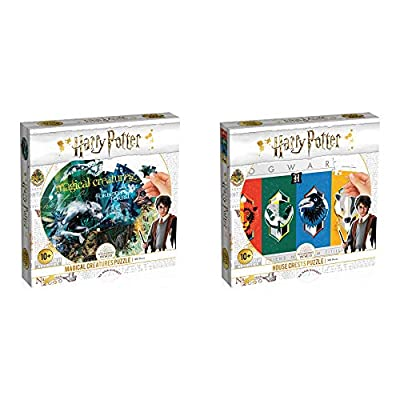 Harry Potter House Crests and Magical Creatures Bundle of 2, 500 Piece Puzzles: Toys & Games
