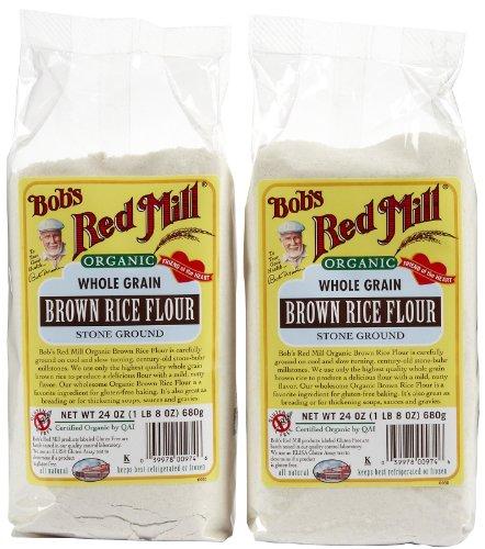(Bob's Red Mill Organic Brown Rice Flour, 24 oz, 2 pk)