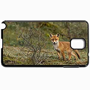 Customized Cellphone Case Back Cover For Samsung Galaxy Note 3, Protective Hardshell Case Personalized Fox Black