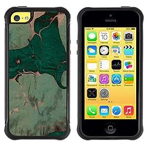 Suave TPU GEL Carcasa Funda Silicona Blando Estuche Caso de protección (para) Apple Iphone 5C / CECELL Phone case / / Leaves Watercolor Painting Art /