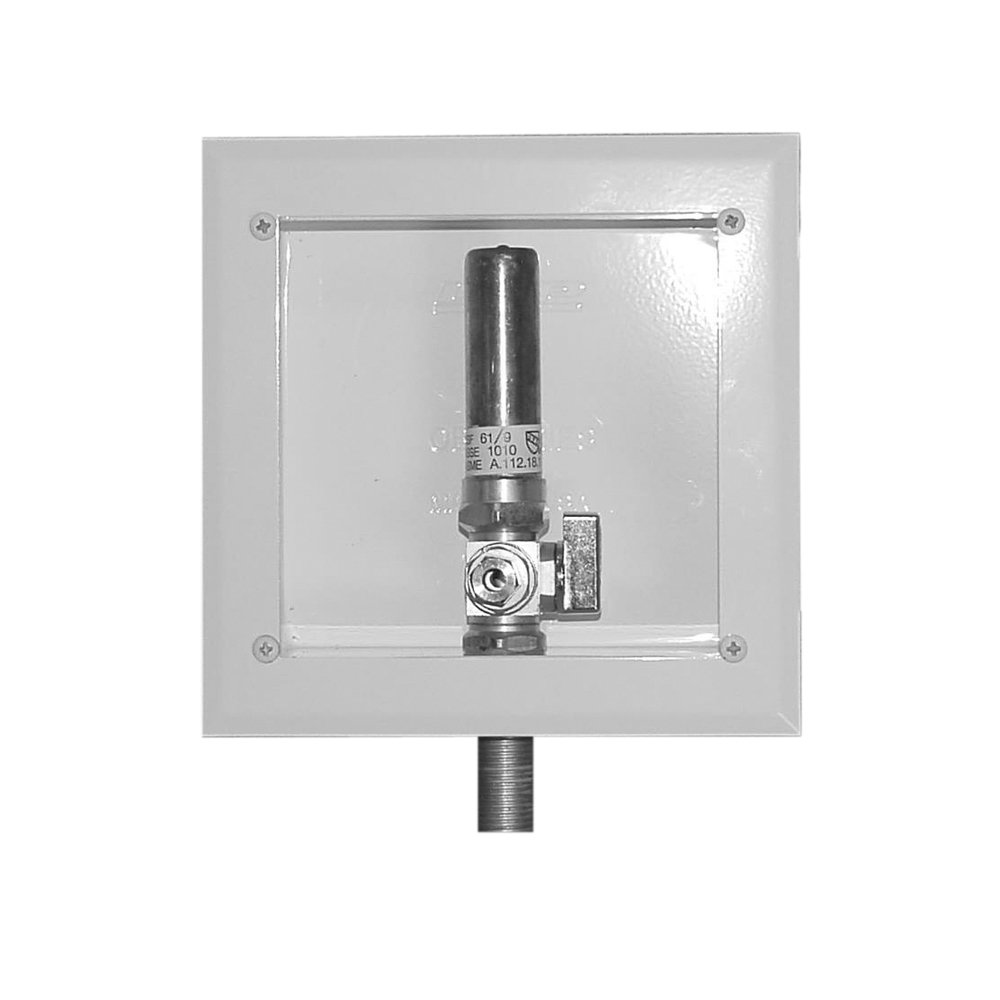 LSP OB-509-LL Ice Maker Box with Mip Valve and Water Hammer Arrester, Metal