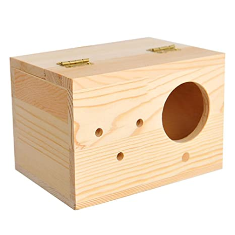 2Pcs Loro cría Caja Nido Boxs Birdhouse de Madera con Ventana y ...