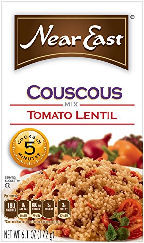 Near East Coucous Mix, Tomato Lentil, 6.1 oz (Pack of 12 Boxes)