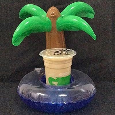 Amosfun - Posavasos hinchables con forma de palmera, soporte para ...