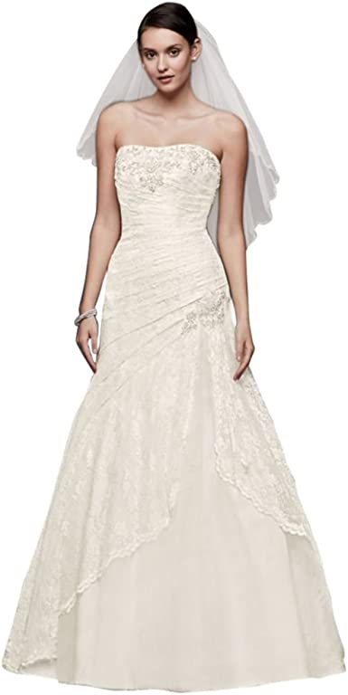 Baixia Crystal Mermaid Lace Wedding Dress Trumpet Bride Gown