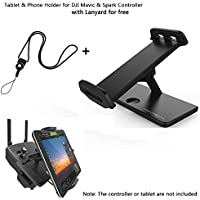 Joint Vcitory Aluminum-Alloy Foldable Bracket Extender 4-12 Inches Tablet Stander Mobile Phone Stand Holder with Lanyard for DJI Mavic and DJI Spark Remote Controller (Holder2)