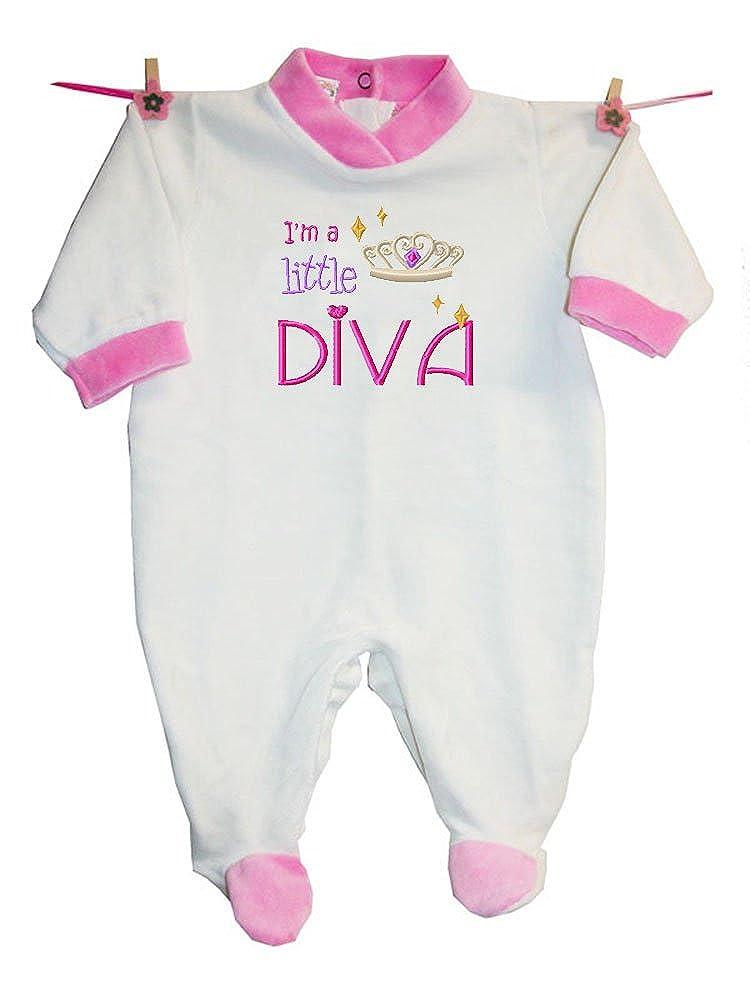 Zigozago 3 mesi per bambino di 62 cm; Colore Rosa Tutina DIVA in ciniglia di cotone; Taglia