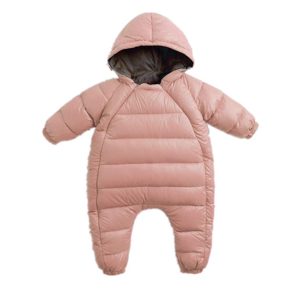 Beide Baby Boys Girls Snowsuits Double Zipper Winter Pram Suit Romper