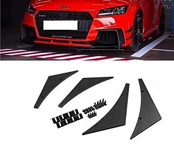 4x Carbon Fiber Car Bumper Fin Canard Splitter Diffuser Valence Spoiler Lip