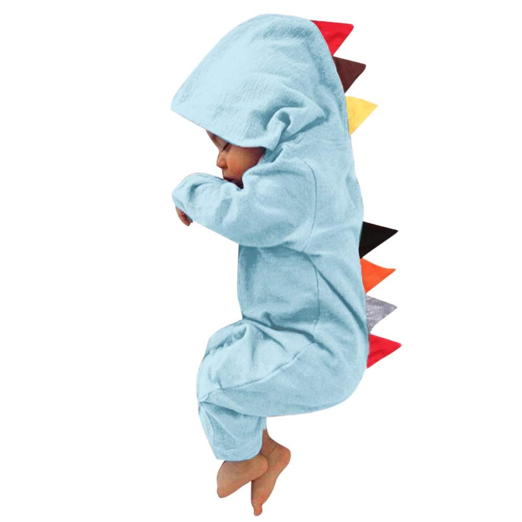 EHMOG Dinosaurio Estilo Patchwork Romper Jumpsuit Playsiut para Reci/én Nacido Beb/é Ni/ñas Ni/ños