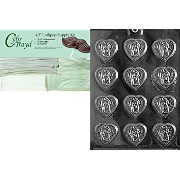 25 Green and 25 Red Twist Ties and Chocolatiers Guide Cybrtrayd Christmas Ball Chocolate Mold with Chocolatiers Bundle of 50 Cello Bags