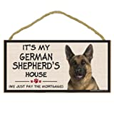 Imagine This Wood Breed Decorative Mortgage Sign, German Shepherd
