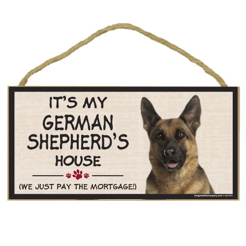 Imagine This Wood Breed Decorative Mortgage Sign, German Shepherd by Imagine This