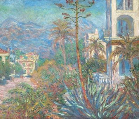 Oil Painting 'Villas In Bordighera, Italy 1884 By Claude Monet' Printing On High Quality Polyster Canvas , 20x23 Inch / 51x59 Cm ,the Best Gift For Bf And Gf And Home Gallery Art And Gifts Is This Vivid Art Decorative Canvas Prints