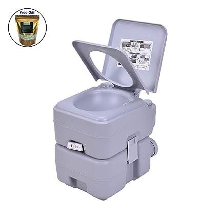 Amazon.com: Eight24hours - Inodoro portátil de 5 galones de ...