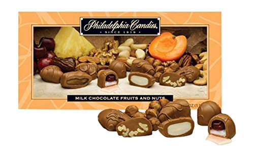 Nut Cluster Assortment (Philadelphia Candies Milk Chocolate Covered Glacé Fruits (Apricots, Cherries, Dates, Pineapple) and Nuts Assortment)